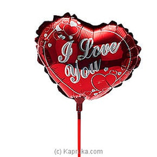 `I Love You ` Reddish Foil Baloon at Kapruka Online