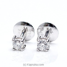 18k White Gold Earring Set (ALE 640 .20) By Alankara at Kapruka Online for specialGifts