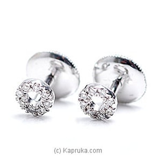 18k White Gold Earring Set (FE 058) at Kapruka Online