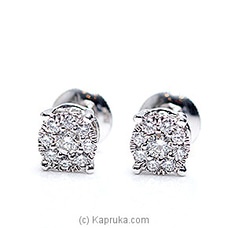 18k White Gold Earring Set (REH 01) at Kapruka Online