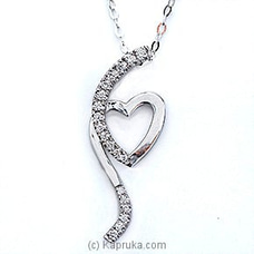 18k White Gold Pendent Set( FP 007) By Alankara at Kapruka Online for specialGifts