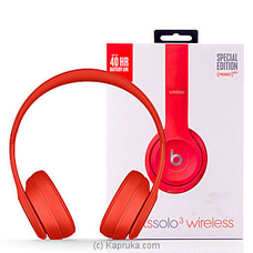 Beats Solo3 Wireless On-Ear Headphones - (PRODUCT) RED By Beats at Kapruka Online for specialGifts