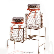 Home Basics Glass Canister Set By HABITAT ACCENT at Kapruka Online for specialGifts