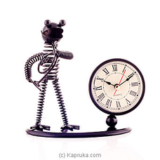 Vintage Iron Musician Table Clock By HABITAT ACCENT at Kapruka Online for specialGifts