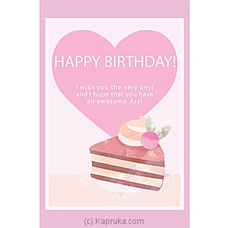 Birthday Greeting Cardat Kapruka Online for specialGifts