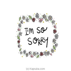 I Am Sorry Card at Kapruka Online