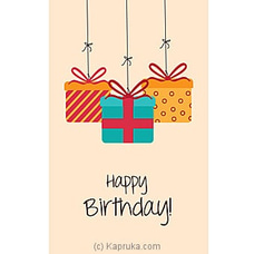 Bday Greeting Card at Kapruka Online