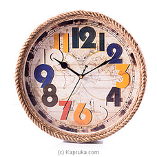 Vintage Wall Clock By HABITAT ACCENT at Kapruka Online forspecialGifts