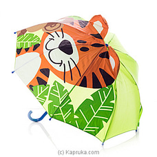 Tiger with Monkey 3D Kids Umbrella at Kapruka Online