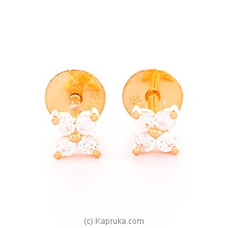 Vogue 22K Gold  Ear Stud Set With 8(c/z) Rounds By VOGUE at Kapruka Online forspecialGifts