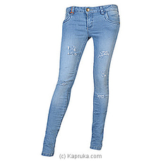 LICC Ladie`s Light Blue Skinny Fit Ripped Jeansat Kapruka Online forspecialGifts