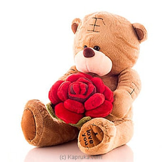 Tatty Bear With A Rose By Huggables at Kapruka Online for specialGifts