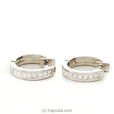 18k White Gold Earring Set (ALE 1435) at Kapruka Online