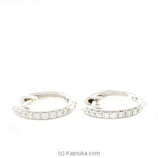 18k White Gold Earring Set With (AFE 1497) By Alankara at Kapruka Online forspecialGifts