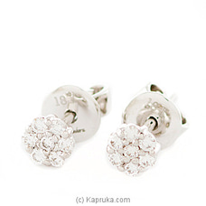 18k White Gold Earring Set (ALE 271 1.3B) at Kapruka Online