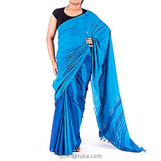 Blue Handloom Saree By Kamba at Kapruka Online for specialGifts