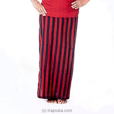Red And Black Stripes Handloom Lungi By Kamba at Kapruka Online for specialGifts