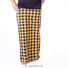 Black And Yellow Check  Handloom Lungi With Blouse materiel By Kamba at Kapruka Online for specialGifts