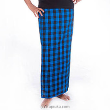 Black And Blue Lungi By Kamba at Kapruka Online for specialGifts