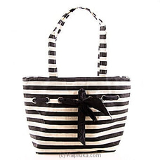 Summer Time Black Stripe Bag at Kapruka Online