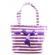 Summer Time Purple Stripe Bag at Kapruka Online