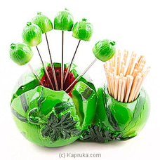 Watermelon Forks Set And Toothpick Holder By HABITAT ACCENT at Kapruka Online for specialGifts