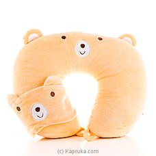 Travel Plush Neck Pillow With Eye Mask By HABITAT ACCENT at Kapruka Online for specialGifts