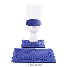 Bathroom Non-Slip Rug Set - Blue By HABITAT ACCENT at Kapruka Online for specialGifts