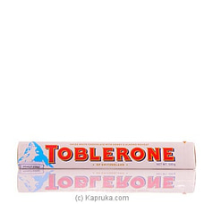 Toblerone Swiss White Chocolate With Honey And Almond Nougat-100g at Kapruka Online