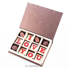 `I Love You` 12 Piece Chocolate Box(Java) at Kapruka Online