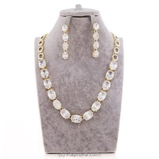 White Crystal Jewelry Set ( Necklace And Earrings Set) By Swarovski at Kapruka Online forspecialGifts