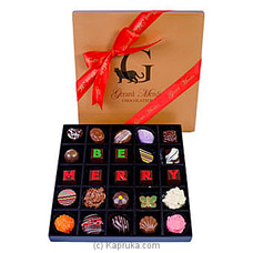 ` Be Merry` 25 Piece Box Of Chocolates(GMC) By GMC at Kapruka Online for specialGifts