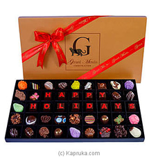` Happy Holidays` 45 Piece Box Of Chocolates(GMC) By GMC at Kapruka Online for specialGifts