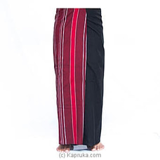 Black And Meroon Handloom Sarong FORHIM at Kapruka Online