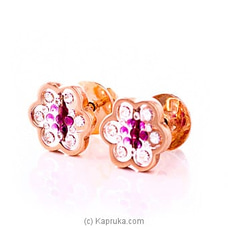 Pink Gold Earing Set By DIAMOND DREAMS at Kapruka Online for specialGifts
