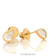 18kt Yellow Gold Earing Set By DIAMOND DREAMS at Kapruka Online for specialGifts
