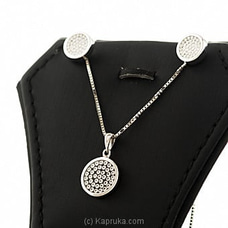 18kt White Gold Pendant With Earing Set By DIAMOND DREAMS at Kapruka Online for specialGifts