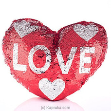 Fall In Love Glittery Pillow at Kapruka Online