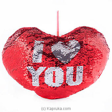 I Love You Glittery Pillow By Huggables at Kapruka Online for specialGifts