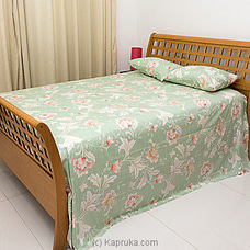 Light Green Floral Design Cotton Bed Sheet By HABITAT ACCENT at Kapruka Online for specialGifts