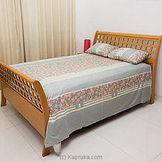 Ash Clolor Cotton Bed Sheet With Floral Design By HABITAT ACCENT at Kapruka Online for specialGifts