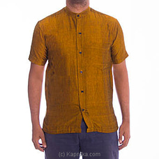 Homins Handloom Short Sleeve Mustard Yellow Shirtat Kapruka Online for specialGifts