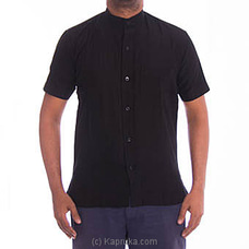 Homins Handloom Short Sleeve Black Shirt FORHIM at Kapruka Online