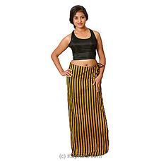 Black And Gold Lungi With Blouse Meterial By Kamba at Kapruka Online for specialGifts