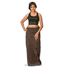Black And Coffee Brown Lungi With Blouse Meterial By Kamba at Kapruka Online for specialGifts