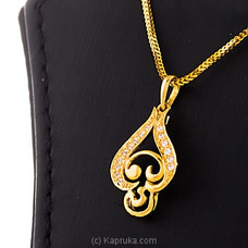 22KT Y/G Pendant Studded With Swarovski Zirconia-PE0001141 By SWARNA MAHAL at Kapruka Online for specialGifts