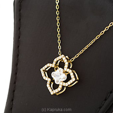 Stone Flower Pendant With Necklace By Swarovski at Kapruka Online for specialGifts