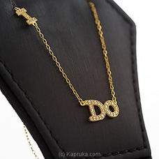 `I do` Letter Pendant With Necklace By Swarovski at Kapruka Online for specialGifts