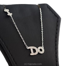 Stone Silver Letter Pendant With Necklace By Swarovski at Kapruka Online for specialGifts