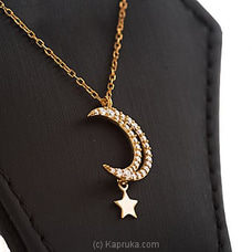 Moon Star Stone Pendant With Necklace By Swarovski at Kapruka Online for specialGifts